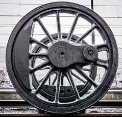 Big Wheels Keep On Rolling (Jan Moons) Tags: trainworld wheel iron wheels metal old exhibition brussel brussels schaarbeek belgium sony a6000 ilce6000 20mm 20mm28