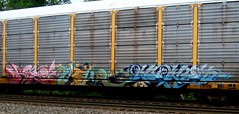 - detour - mines (timetomakethepasta) Tags: detour mines fst unfinished freight train graffiti art autorack ttx