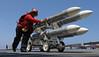 (aeroman3) Tags: ussharrystruman strikefightersquadronvfa105 move ordnance missiles bombfarm atsea atlanticocean