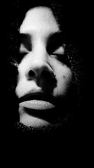 in silence... (Nassia Kapa) Tags: fujifilm fuji me mouth lips calm face dark grain bw portrait pain grief silence nassiakapa
