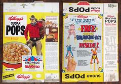 Vintage 1973 Kellogg's Sugar Pops Cereal Box Circus (gregg_koenig) Tags: vintage 1973 kelloggs sugar pops cereal box circus 1970s 70s