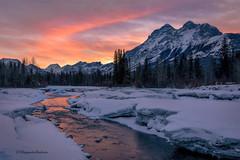 Kananskis, AB (Margarita Genkova) Tags: kananskis rockymountains alberta river reflection clouds snow ice