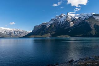 Blue and white. Alberta Landscape.
