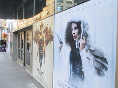 Resident Evil The Final Chapter and Underwood Blood Wars 1231 (Brechtbug) Tags: underworld blood wars 2017 february movie poster standee film kate beckinsale vampire hunter hunters resident evil comes home billboard sidewalk display destruction milla jovovich video game nyc 02042017 new york city cinema marquee flickr motion black white red graphic illustration scifi science fiction post apocalyptic future dystopia futuristic war zone female warrior amazon amazonian 13th street