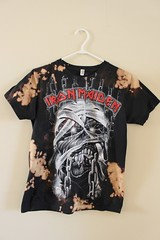 Splatter Bleached and Shredded Iron Maiden T Shirt Small (shopthegasstation) Tags: tshirt tee shirt top jersey clothing gasstation etsy bleached bleach dye dyed shredded ripped cut destroyed splatter splattered black mens guys unisex band group tour music graphic ironmaiden eddie powerslave chains