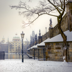 CF011838 (Thomas_Cat) Tags: karlův most praha prague winter zima sníh snow charles bridge street lamp tree panorama river vltava řeka tower sun white sky medium format iq260 tomas cac tomcat phase one schneider kreuznach 110mm 28 ls sandstone riverside statuary temple europe czech republic capital haze mist sunrise 布拉格 捷克共和國 чехия прага карлов мост カレル橋
