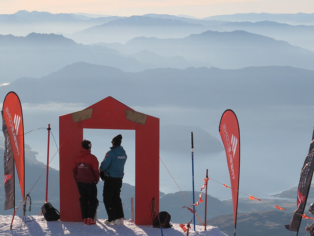 Setting up the FIS Slalom - Treble Cone, Wanaka NZ (August 30 2014)