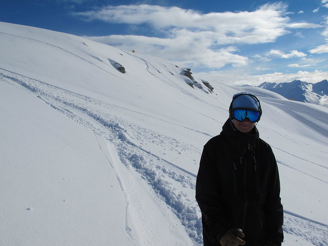 Mark Frater from Outside Sports, Wanaka skiing Big Skite - Treble Cone, Wanaka NZ (September 16, 2014)