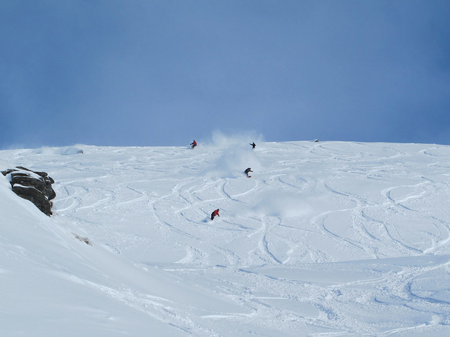 Riding Cloud Nine with a crew - Treble Cone, Wanaka NZ (September 16, 2014)