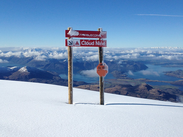 Cloud 9 sign - Treble Cone, Wanaka NZ (July 14, 2014)