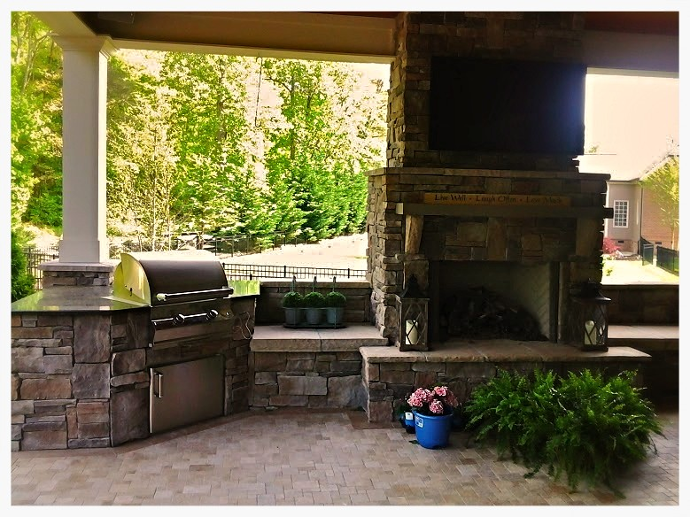 Fire Magic A430 Custom Outdoor Kitchen.