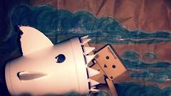 Don't feed the Sharks Danbo! (karmenbizet73) Tags: art toys photography flickr toystory chum eyespy danbo sharkweek 177365 danboard photodevelopment danbolove toysunderthebed 2015365photos dontfeedthesharks