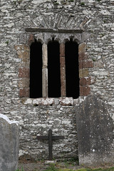 Oughterard Church window (backpackphotography) Tags: ireland kildare roundtower oughterard backpackphotography