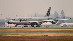 A7-AAH - Qatar Airways (Qatar Amiri Flight) - Airbus A340-313 (bcavpics) Tags: canada vancouver plane airplane britishcolumbia aircraft aviation flight airbus yvr amiri airliner a340 qatar qatarairways bcpics a7aah