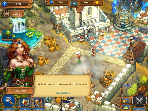 The Tribez & Castlez - Play with friends! Tutorial: screenshots, UI