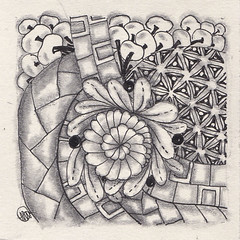 no. 87 (aaspforswestin) Tags: blackandwhite bw ink drawing zentangle zentangles zentangleproject