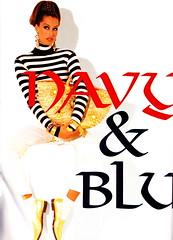 "Vogue Italia ""Navy and Blue"" Sett 1992 (barbiescanner) Tags: 1992 1990s 90s supermodels vogueitalia 90sfashion yasmeenghauri walterchin"