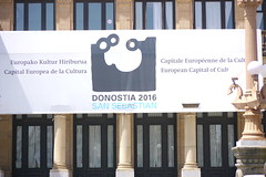 Donostia 2016: European Capital of Culture (atl10trader) Tags: architecture poster cityhall culture sansebastian basque donostia ayuntamiento summer2015
