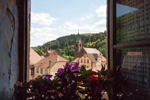Vue sur Graufthal depuis les maisons troglodytiques