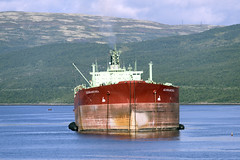 Tanker in Murmansk (Christopher.Michel) Tags: lighthouse abandoned industrial nuclear shipwreck kola quark polarbears cruiser submarines northpole kolapeninsula murmansk icebreakers northernfleet severomorsk nuclearicebreaker 50yearsofvictory severomorks rosatomflot 50letpebody
