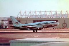 N7392F Boeing 737-291 cn 21509 ln 521 Frontier Airlines Phoenix Sky Harbor 18Oct78 (kerrydavidtaylor) Tags: phoenixskyharborinternationalairport phx kphx arizona boeing737 boeing737200