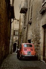 indietro nel tempo (lapeppina) Tags: 500 fiat cinquecento rosso vintage orvieto
