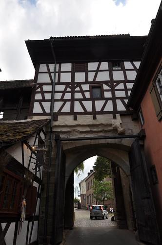 Maulbronn (Alemania). Monasterio. Acceso al recinto monasterial desde el interior