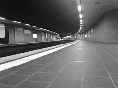 Train station Börsenplatz Stuttgart (DoubleE87) Tags: ubahn börse stuttgart blackandwhite trainstation 5 iphone