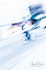 Cyclist at Warp Speed (GR Harris Photography) Tags: abstract bike cyclist manhattan movement newyorkcity nyc street streetphotography travel newyork unitedstates us