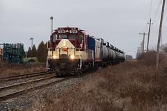 OSR 1594 (railroadcndr) Tags: cp cpr canadianpacific cpstthomassub osrstthomassub osr os stthomas ontario canada osrstthomasjob osr1594 gmd gp9u freight train engine locomotive track tracks railroad railway station signal switch siding yard
