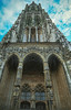 Minster steeple at Ulm (Psychograph) Tags: city church tower old architecture cathedral gothic highest steeple minster ulm analogfilm superlativ