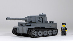 Tiger I (late production) (Rebla) Tags: lego ww2 wwii world war ii rebla tank 145 tiger i german