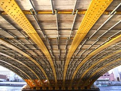 TOKYO SUMIDA RIVER BRIDGE (patrick555666751) Tags: tokyo sumida river bridge riviere ponts pont bridges puente puentes tokyosumidariverbridge nihon nippon cipango jipangu japao giappone japo edo kanto honshu yokyo tokio toquio east asia asie est japan japon amarillo gelb jaune yellow giallo brucke