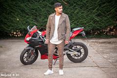 Charles (Mourad Ben Photography) Tags: portrait homme photographie paris street streetear moto motard pose eastpak sac mode focus