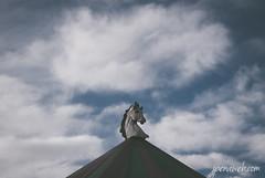 Carrusel (jesus pena diseño) Tags: jpena jpenaweb jesus pena diseño spain madrid fog abstract noir black white alone winter weather lake water blanco negro aire libre neblina serenidad cielo jesuspenadiseño carrousel tale feria child clouds street