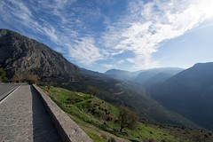 Delphi (Acaciasc) Tags: landscape green blue greece delphi vacation holiday getaway mountains sky