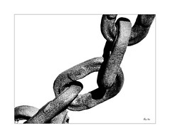 all in it together... (Stu Bo) Tags: vision sbimageworks unity blackandwhite bw beauty we us human mankind monotone chain metal work hope
