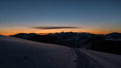 traces (Jyamax) Tags: winter dusk mountains traces snow jura switzerland