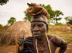 Mursi Grandmother (Rod Waddington) Tags: africa african afrika afrique äthiopien ethiopia ethiopian ethnic etiopia ethnicity ethiopie etiopian omo omovalley omoriver mursi tribe traditional tribal mago grandmother elderly old woman aged village valley valle outdoor portrait people greyhair beads