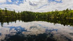 Bright Lake reflection 2010 (hz536n/George Thomas) Tags: canon5d ef1740mmf4lusm cs6 copyright upnorth nik michigan summer sky reflection lake nature trees brightlake