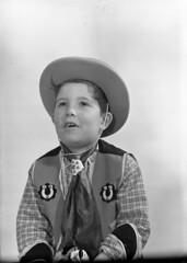 img418 (foundin_a_attic) Tags: glass slides fashion portrait boy cowboy fancy dress custure horseshoe costume hat toy gun hourse
