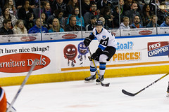 "Missouri Mavericks vs. Wichita Thunder, February 3, 2017, Silverstein Eye Centers Arena, Independence, Missouri.  Photo: John Howe / Howe Creative Photography • <a style=""font-size:0.8em;"" href=""http://www.flickr.com/photos/134016632@N02/32591262181/"" target=""_blank"">View on Flickr</a>"