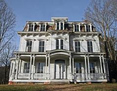 Waterloo Village - Faded Mansion f (dlberek) Tags: victorianhouse abandoned mansion waterloovillage newjersey historicsite