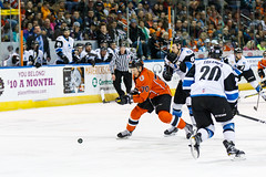 "Missouri Mavericks vs. Wichita Thunder, February 4, 2017, Silverstein Eye Centers Arena, Independence, Missouri.  Photo: John Howe / Howe Creative Photography • <a style=""font-size:0.8em;"" href=""http://www.flickr.com/photos/134016632@N02/32753146315/"" target=""_blank"">View on Flickr</a>"