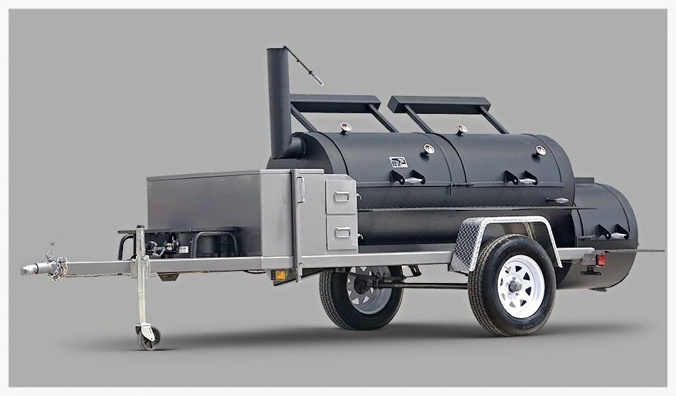 Yoder Frontiersman trailer mounted smoker