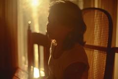 Luminarias (J.J.Evan) Tags: light portrait woman sun sunlight reflection luz sol cortina girl face sunshine yellow pose hair atardecer mujer eyes chair nikon warm day mood moody chica expression retrato interior cara clothes amarillo ojos silla reflejo mm nikkor 50 día ropa pelo d800 courtain expresión cálido