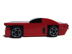 Mustang-esque 4-wide (side) (Sir.Manperson) Tags: red lego tt mustang 4wide