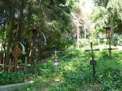 Calinesti - churchyard, Biserica de Lemn Adormirea Maicii Domnului
