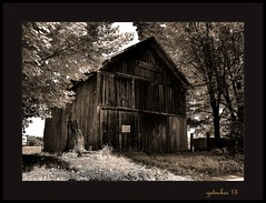 Barn on a Country Road sepia (the Gallopping Geezer 3.8 million + views....) Tags: old building barn rural canon decay country structure faded worn weathered backroad decayed countryroad geezer corel 6d 2015 tamron28300