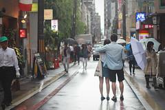 Rainy Kyoto (SambitBasu) Tags: street streets rain japan umbrella 50mm tokyo kyoto market rainy nishiki 550d